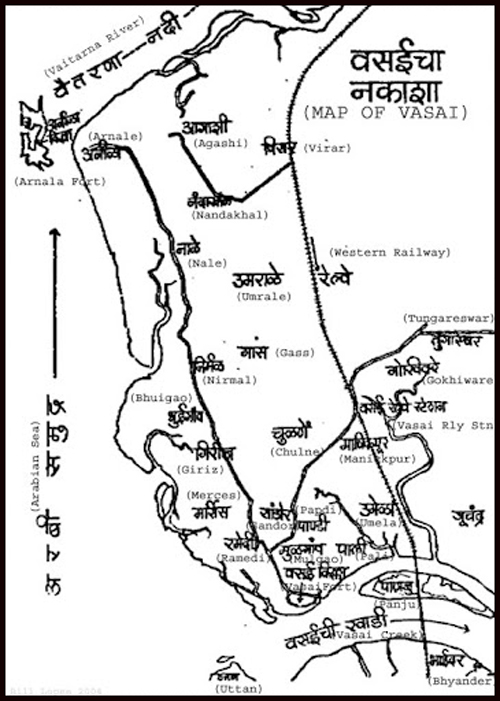 Map of Vasai-Amazing Maharashtra