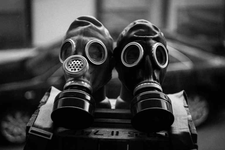 photo of gas masks
