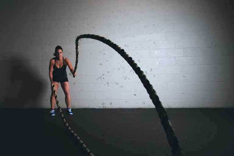 rope jumping ropes human training